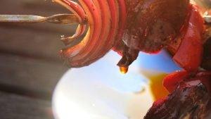 Chilli Oil on Kebabs