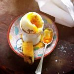 Boiled Egg with Chilli Oil