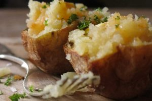 Chilli Oil Baked Potatoes