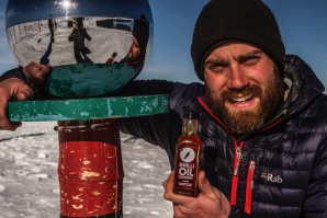 Paddy Scott at the South Pole