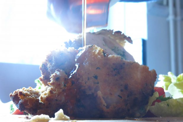 Chicken Kiev with Habanero chilli oil